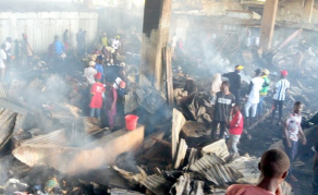 Fire Razes Over 200 Shops in Nigeria Market