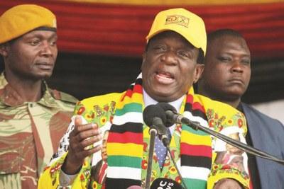 Président Emmerson Mnangagwa.