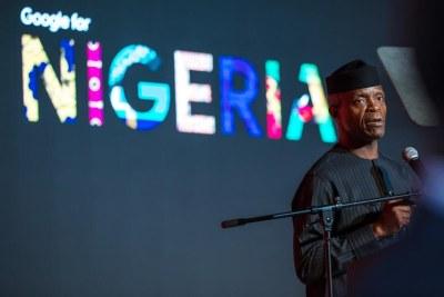 Yemi Osinbajo at the Google event.