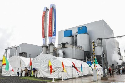 The exterior of the Reppie waste-to-energy facility in Addis Ababa. Ethiopia's first waste-to-energy facility was inaugurated on Sunday in the presence of high-level Ethiopian and foreign dignitaries.