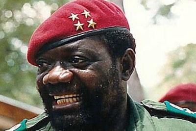 Angolan Rebel Leader Jonas Savimbi