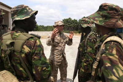 US marines in Manda Bay in Kenya.
