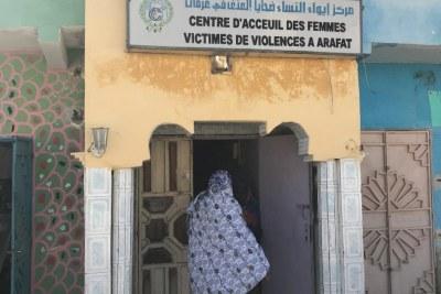 Centre d'appui aux femmes et filles survivantes de violences fondées sur le genre géré par l'Association des femmes chefs de famille, Nouakchott, Mauritanie, le 29 janvier 2018.