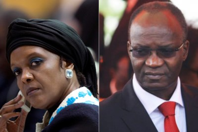 Former First Lady Grace Mugabe and former Cabinet minister Jonathan Moyo.