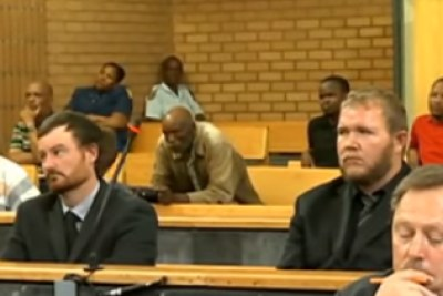 The two men being sentenced for the Coligny murders.