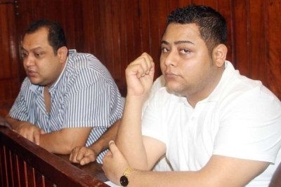 Baktash and Ibrahim Akasha in a Mombasa court on November 12, 2015.