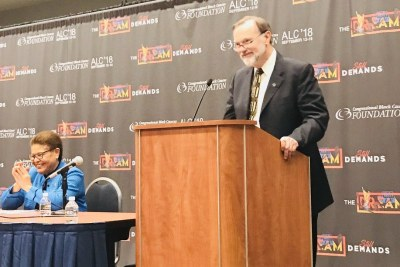 Assistant Secretary of State Tibor Nagy speaks at the Africa Braintrust 2018.
