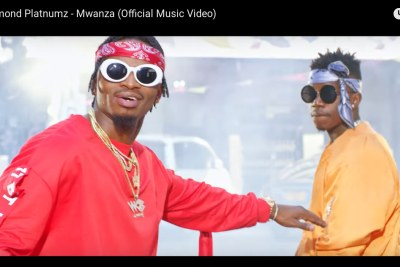 Diamond and Rayvanny in the new song, Mwanza.