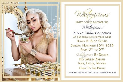 Blac Chyna to sell skin lightening cream in Nigeria?
