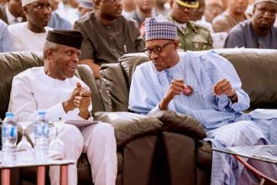 President Muhammadu Buhari and Yemi Osinbajo.