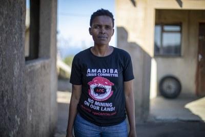 Amadiba Crisis Committee leader, Nonhle Mbuthuma.