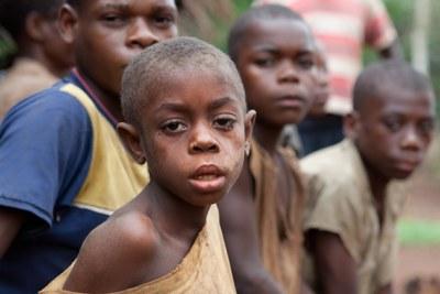Enfants pygmées au Congo Brazza