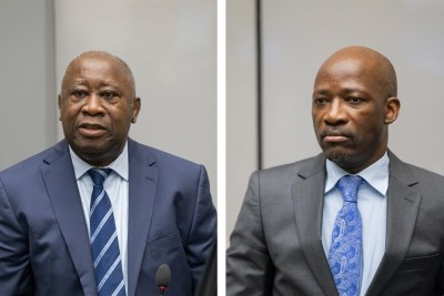 Mr Laurent Gbagbo and Mr Charles Blé Goudé in Courtroom I at the seat of the International Criminal Court in The Hague, Netherlands on 15 January 2019 ©ICC-CPI