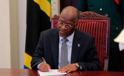 Image result for Images of Magufuli Signing