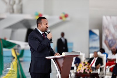 Ethiopian Prime Minister Abiy Ahmed inaugurates the expanded Bole International Airport.