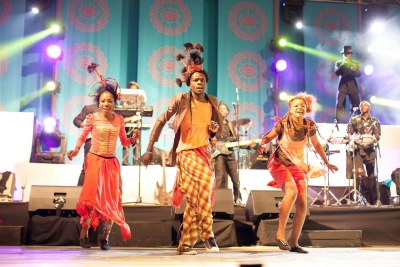 Performers at the Harare International Festival of the Arts.