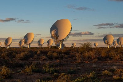 Some of the 64 radio antennas of the MeerKAT telescope in the Karoo (file photo).