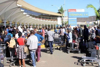 Passengers at Jomo Kenyatta International Airport (file photo).