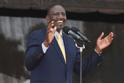 Deputy President William Ruto at a past function.