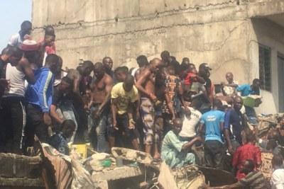 Building collapse at Ita-Faji area in Lagos.