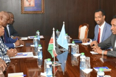 A meeting between Kenya and Somalia delegations that was held in Nairobi (file photo).