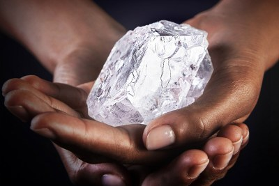 The Lesedi La Rona diamond is the third-largest diamond ever found, and the second-largest of gem quality.