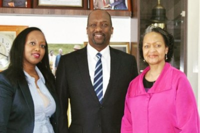 Ms Mfasoni, East Africa Director, CCA and Ms Liser, President and CEO, CCA with Mr. Kiprono Kittony, National Chairman of the Kenya Chamber of Commerce and Industry