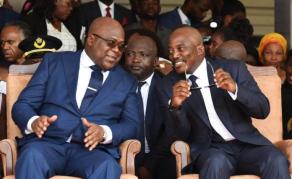 Joseph Kabila reçu par le Président Tshisekedi à Kinshasa