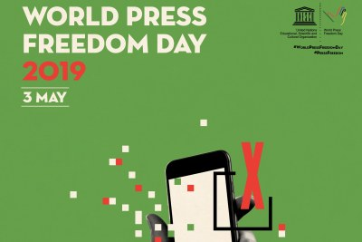 The World Press Freedom Day poster for 2019.