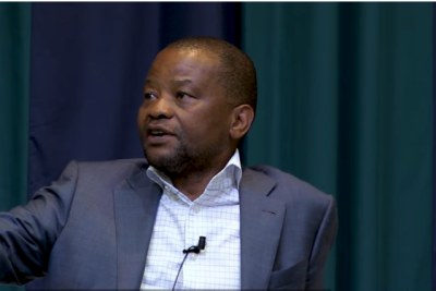 Screenshot of former Old Mutual CEO Peter Moyo.