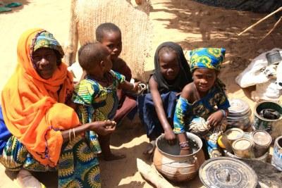 Une famille ayant fui le nord-est du Nigéria à cause de l'insécurité pour trouver refuge dans la région de Diffa, au Niger (photo archives).