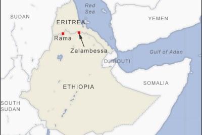 Ethiopia-Eritrea border.