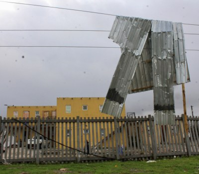 Cape Town Storm  - Informal Settlements Hard Hit by High Winds