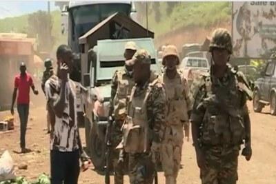 Des militaires camerounaix