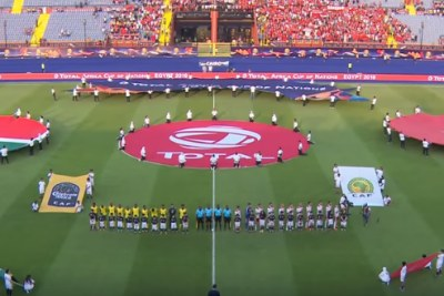 The start of the match between South Africa and Morocco on July 1, 2019.