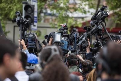 Press, media, cameras
