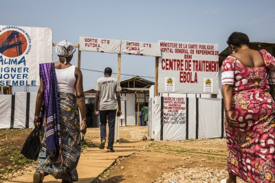 Families go to the Ebola Treatment Center (file photo).