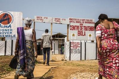 Des familles se rendent au centre de traitement Ebola de Beni, dans la région du Nord-Kivu (Illustration)