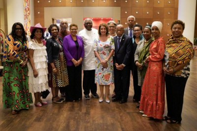 United States House of Representatives speaker Nancy Pelosi and her delegation in Ghana.
