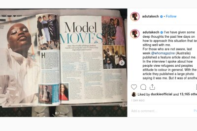 Adut Akech feels 'disrespected' by photo blunder