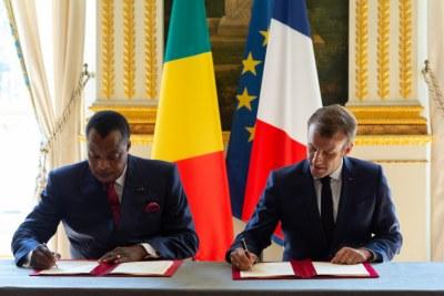 Le président congolais, Denis Sassou Nguesso et le président français Emmanuel Macron ont signé une lettre d'intention établissant un partenariat de long terme entre la République du Congo et l'initiative pour les forêts d'Afrique centrale (CAFI), en vue de réduire les émissions de CO2 liées à la déforestation et à la dégradation des forêts.