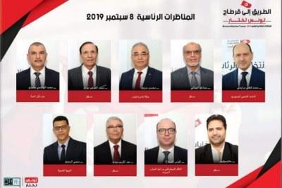 Les huit candidats engagés dans la course pour la présidentielle 2019 en Tunisie