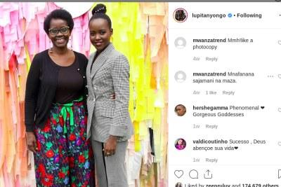 Lupita Nyong'o and her mother Dorothy Nyong'o (file photo).