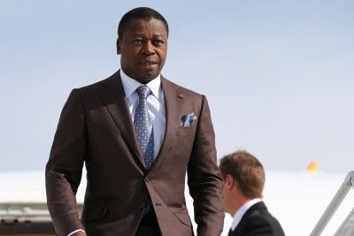 Togo's President Faure Essozimna Gnassingbe arrives at the 2019 Russia-Africa Summit in Sochi, Russia, 23 October 2019.
