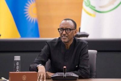 President Paul Kagame (file photo).