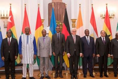 des dirigeants africains au sommet du G20 en Allemagne en 2019.