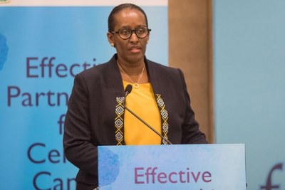 First Lady Jeannette Kagame has commended a new programme that will provide cervical cancer prevention to women aged between 30-49.