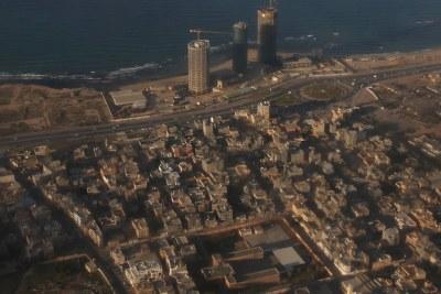 Une vue aérienne de Tripoli, en Libye, depuis un avion de l'ONU. (archive)