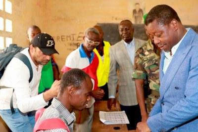 Faure Gnassingbé au lycée Maman N'Danida de Pya samedi