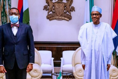 Africa Development Bank (AfDB) President Akinwumi Adesina made a surprise visit to the State House, Abuja, on Tuesday, June 2nd. At their meeting, the Nigerian president said,
